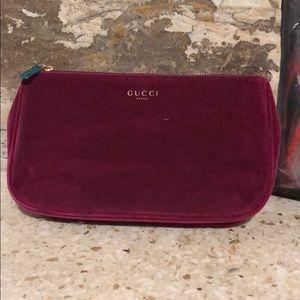 Gucci velvet beauty bag, never been used